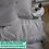 Thumbnail: Однотонное постельное белье из тенселя, цвет серый стальной