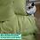 Thumbnail: Однотонное постельное белье из тенселя, цвет травяной