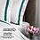 Thumbnail: Отельное постельное белье Rico, с зелеными полосами