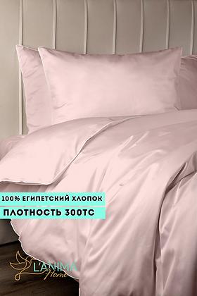 Комплект постельного белья Светлый розовый Премиум Сатин
