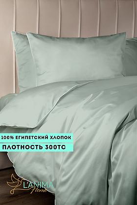 Комплект постельного белья Мятный Премиум Сатин