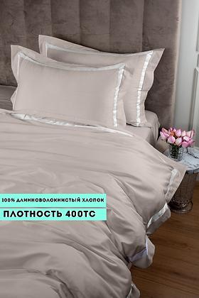 Отельное постельное белье Santanta,цвет светлый беж с белыми полосами