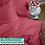 Thumbnail: Однотонное постельное белье из тенселя, цвет красный