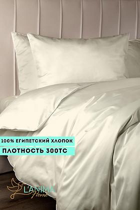 Комплект постельного белья Молочный Премиум Сатин