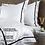 Thumbnail: Отельное постельное белье Simple, цвет белый с черной полосой