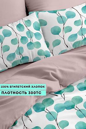 Комплект постельного белья Голубые листья