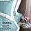 Thumbnail: Отельное постельное белье Megan, бирюзовое с белой  полосой
