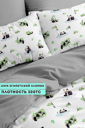 Комплект постельного белья Панда в бамбуке