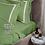 Thumbnail: Отельное постельное белье Rico,травяной с белыми полосами