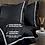 Thumbnail: Отельное постельное белье Simple, черное с белой полосой