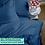 Thumbnail: Однотонное постельное белье из тенселя, цвет индиго
