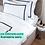 Thumbnail: Отельное постельное белье Rico, с синими полосами