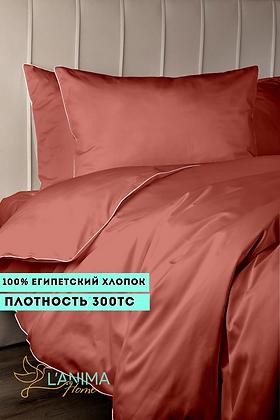 Комплект постельного белья Коралловый Премиум Сатин
