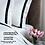 Thumbnail: Отельное постельное белье Santanta,цвет белый с черными полосами