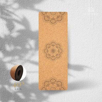 Eco-friendly Cork & Natural Rubber Yoga Mat- 5mm