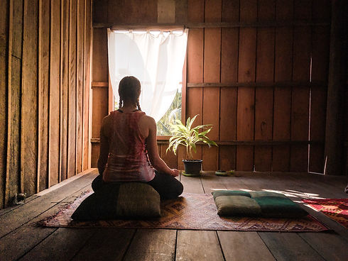 meditation in the retreat house