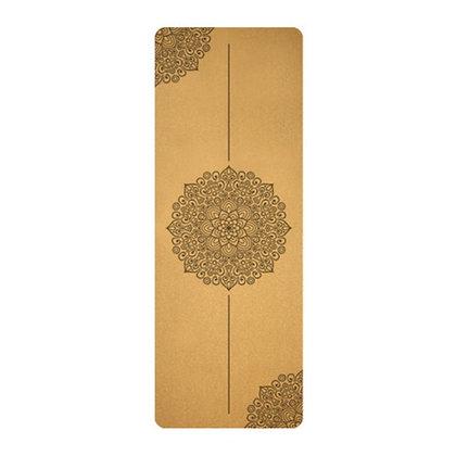 5mm Eco-friendly Cork&Rubber Yoga Mat -Sweat Resistant