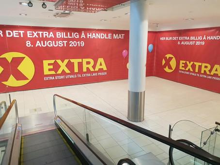 8. August åpner vi EXTRA på Sandvika Storsenter