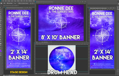 Stage Designs for Print
