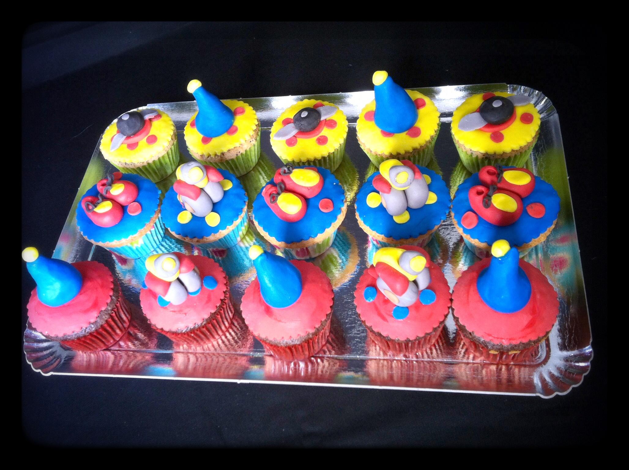 Cupcake décoré Oui-Oui