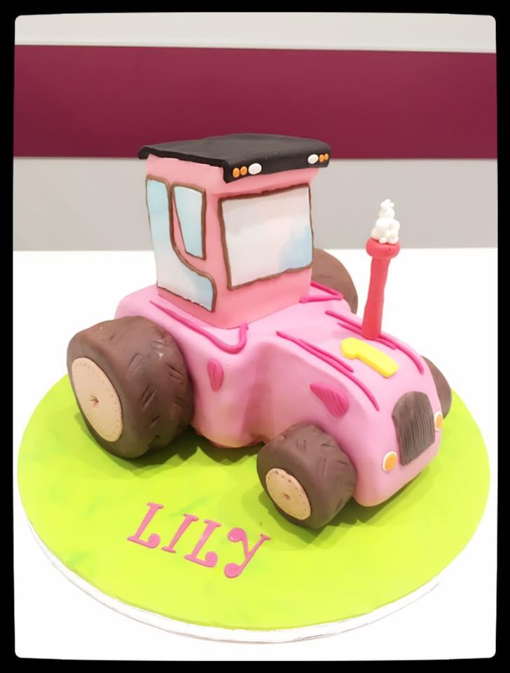 Le tracteur Rose!