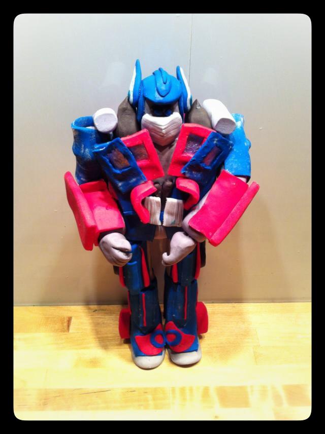 Optimus Prime, sujet pâte à sucre