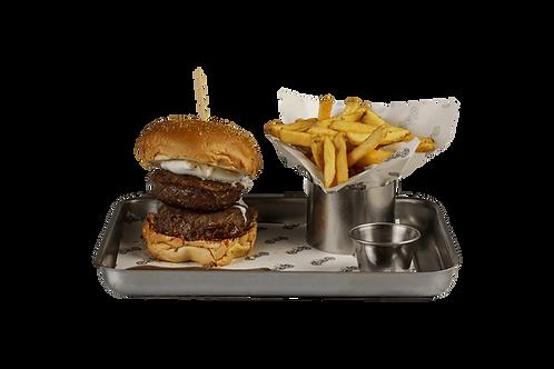 Lard rock burger