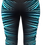 Thumbnail: Female Knee Tights CRAZY LINES Green