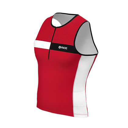 Male Tri Top Sleeveless HIPS Red