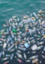 Garment Pollution - Bottles on th sea