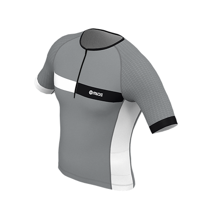 Male Tri Top Short Sleeve HIPS Grey