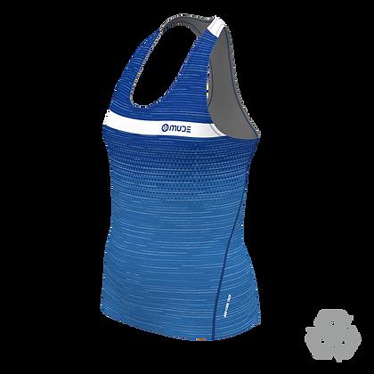 Female Marathon Singlet Trigrade Blue