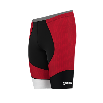 Male Tri Shorts HIPS Red