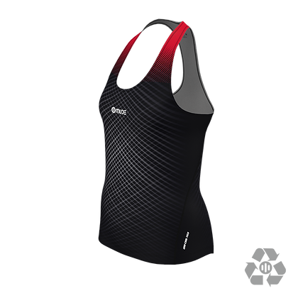 Female Marathon Singlet Vanish Black