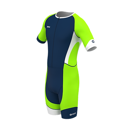 Male PERFORMANCE Trisuit Neon Green