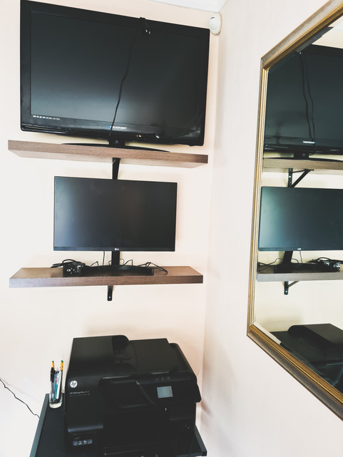 Monitors and printers are ready