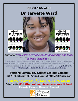 Ward to Speak at Portland Community College -- November 6, 2015