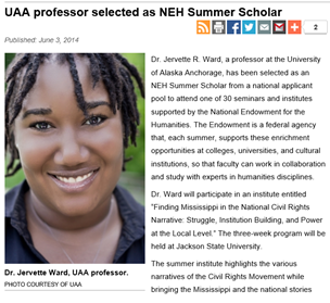 Dr. Ward Selected as NEH Summer Scholar
