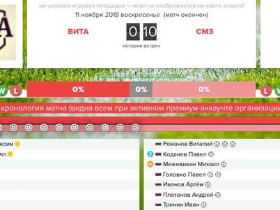 В это воскресенье состоялась очередная игра чемпионата г. Сыктывкар по мини-футболу (вторая лига).
