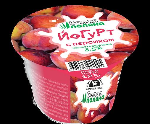 Йогурт с персиком - м.д.ж. 3,5%