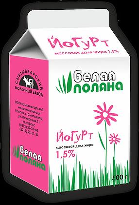 Йогурт без наполнителя – м.д.ж. 1,5%