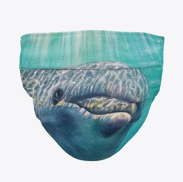 Sunlit Dolphin Face Mask