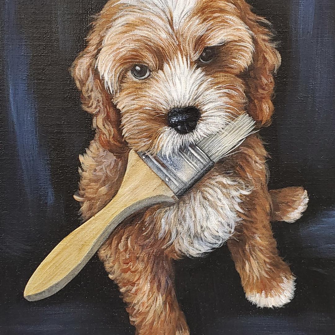 """""""Fitzpickle"""" Puppy Dog Portrait"""