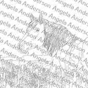 Horse in Flower Meadow Bonus Video Traceable