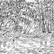 Autumn River Landscape Traceable