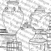 Vintage Rustic Urns Traceable Challenge Image