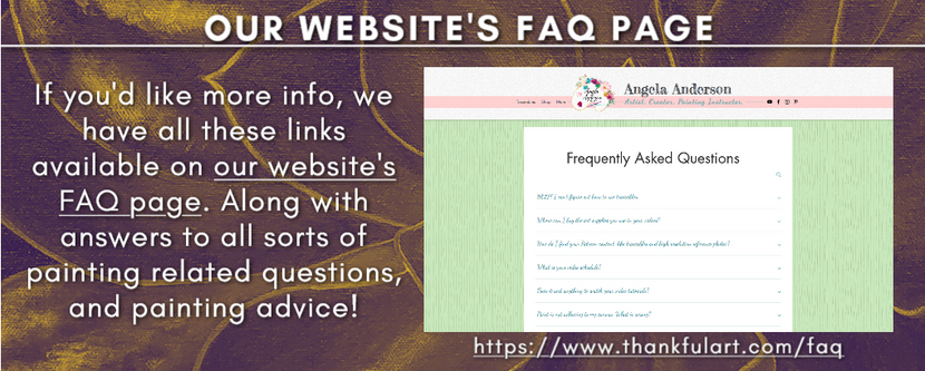 Our Website's FAQ Page