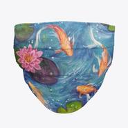 Koi Fish Waterlily Face Mask