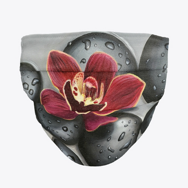 Orchid on the Rocks Face Mask