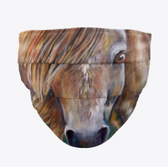 Horse Artwork Face Mask